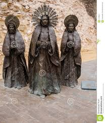 three marias sculpture in elche spain stock image image 31190521
