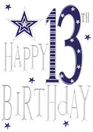 happy 13th birthday foiled greeting card cards love kates