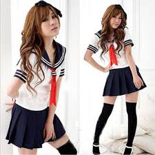 schoolgirl halloween costume cosplay japanese students sailor uniform anime