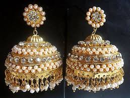 gold earrings for wedding indian gold plated jhumka jhumki earrings collection on ebay
