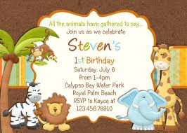 first birthday invitation wordings for baby boy jungle themed 1st birthday invitations jungle themed 1st