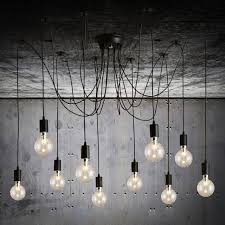 Hanging Light Bulb Pendant Novelty Spider 10 Arm Edison Bulb Pendant Light Industrial Vintage