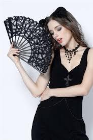 black lace fan hollow out black lace fan by in