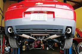 camaro exhaust system add a proper exhaust note to your v 6 powered fifth camaro
