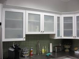 Types Of Kitchen Cabinet Doors White Kitchen Cabinets With Frosted Glass Doors From White Glass