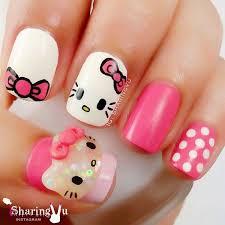best 25 hello kitty nails ideas only on pinterest kitty nails