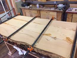 live edge table top fir live edge table top being made west wind hardwood