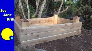 What Type Of Wood Is Best For Raised Garden Beds Build A Raised Garden Bed In Less Than An Hour On A Budget Youtube