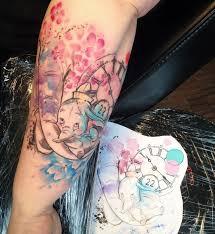 the 25 best disney watercolor tattoo ideas on pinterest small