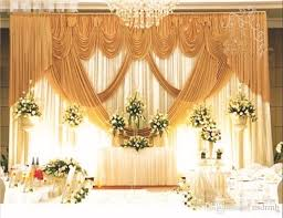 wedding backdrop measurements 3m 6m gold and white wedding backdrop stage curtain wedding supply