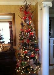 burberry tree seven foot tree decked out with the classic