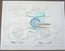coffee coloring page etsy