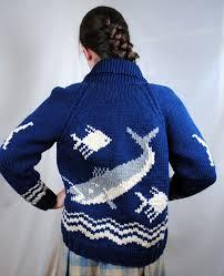 fish sweater vintage 60s cowichan cardigan wool sweater wool sweaters fish