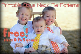 free printable original boys neck tie pattern vanilla joy