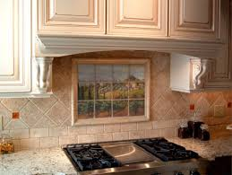 Tuscan Marble Tile Mural In Italian Kitchen Backsplash - Tuscan kitchen backsplash ideas