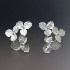 flower earrings flower stud earrings hydrangea flower cluster earrings