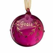 birthstone ornament personalized glass birthstone ornament july walmart