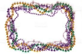 mardi gras frame mardi gras bead frame stock photo 174831219 istock