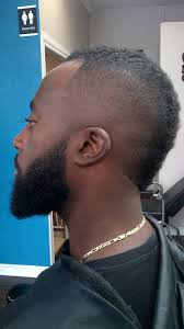 mohawk bald fade u0026 beard lining rylc barber styling pinterest