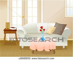 drawing of living room setting u30569233 search clipart