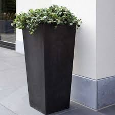 Tall Plastic Planters by Cadix Tall Tapered Planters 2 Colours And 3 Sizes Online