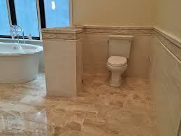master bath 12x24 royal diana marble floor 3x12 handmade ceramic