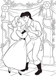 princess ariel prince eric coloring pages 649 princess