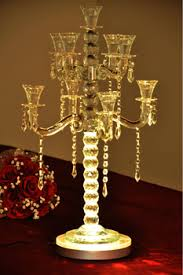 Tabletop Chandelier Centerpiece by 8 Inch Led Table Top Chandelier Centerpieces Light Base For