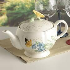 lenox butterfly meadow teapot with lid 6083927 ebay