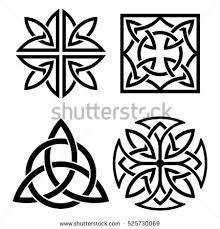 celtic national ornament shape cross black stock vector 595155182