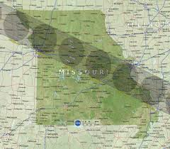 Missouri Wildfire Map by Total Solar Eclipse Of August 21 2017