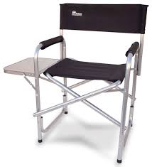 Tall Outdoor Chairs Earth Heavy Duty Folding Director U0027s Chair With Side Table Beach