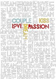 coloring page typography coloring page love coloring kolor