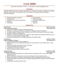 Examples Of Warehouse Resumes by Best Picker And Packer Resume Example Livecareer