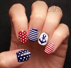 twinsie tuesday stripes nautical nail art the little canvas