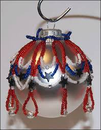 patriotic beaded ornament cover sova enterprises