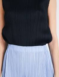 issey miyake light blue pleats please issey miyake wide cropped high rise pleated culottes