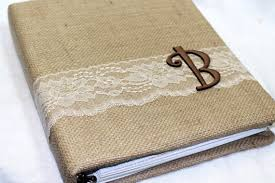 wedding memory book wedding memory book rustic wedding album burlap and lace