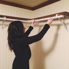 Shelf With Clothes Rod Corner Clothes Rod Easy Diy Hanging Closet Rod Closet How To