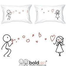 his hers gifts boldloft from my heart to yours couples pillowcases