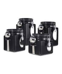 black ceramic kitchen canisters shopko anchor hocking canister set with chrome top just 11 88