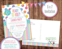 launch party postcard invitation personalized 5x7 inches