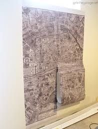 giant paris wall map u2013 how to make a statement wall with removable