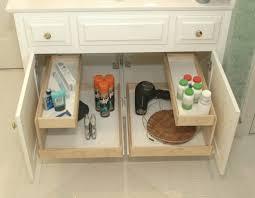 how to organize bathroom cabinets bathroom vanity storage bathroom roll out shelves blog austin