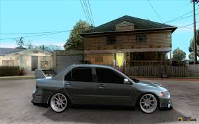 jdm mitsubishi evo mitsubishi lancer evolution viii jdm style for gta san andreas