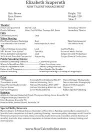 Resume With Color Sumptuous Modeling Resume 12 How To Make A Modeling Resume With No