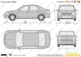 renault logan 2007 the blueprints com vector drawing dacia logan