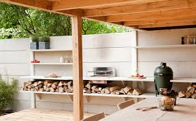 modular outdoor kitchen with shower urban gardens