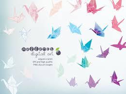 origami cranes illustrations creative market