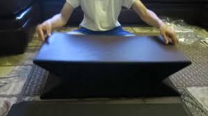 dualplex foldable storage ottoman bench comfortable seat 30